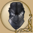 LARP Luthor leather gorget
